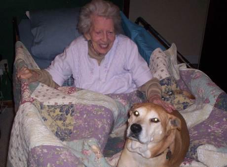 mama in bed nacho